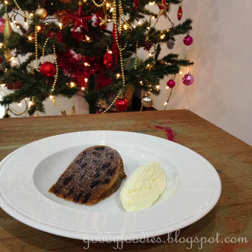 Scottish Dessert With Fruit Cake Custurd And Whiskey