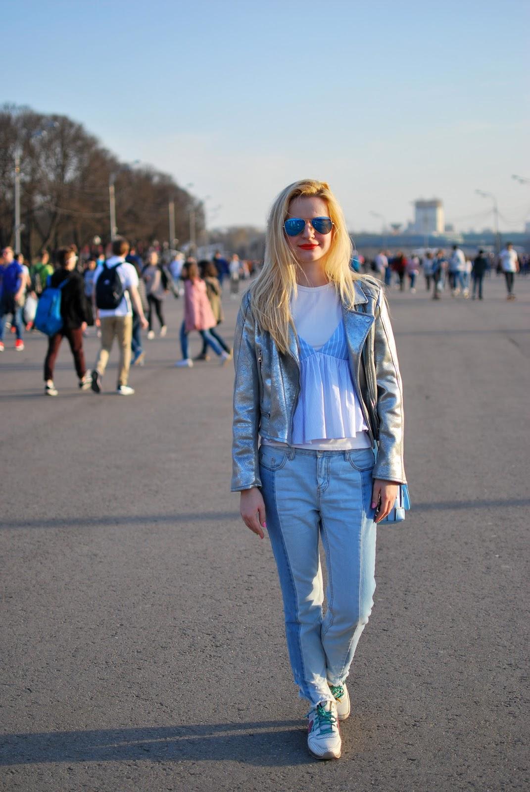 джинсы два цвета, модные джинсы, модные тенденции, модный тенденция,