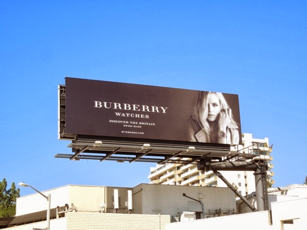 Gabriella Wilde Burberry watches Britain billboard