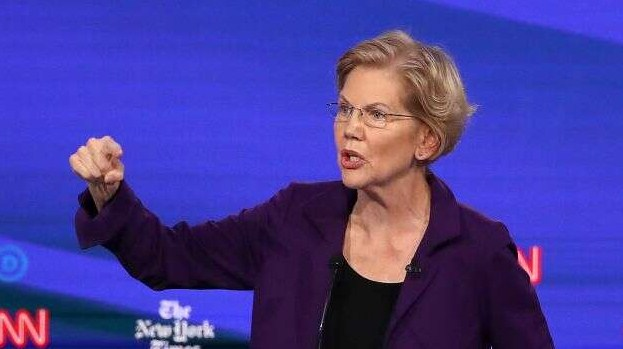 Elizabeth Warren's genuine 'hamburger with very rich people
