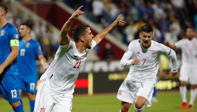ملخص واهداف مباراة اسبانيا وكوسوفو (2-0) تصفيات كاس العالم