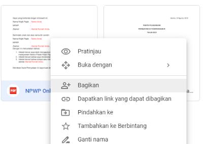 Bagikan File PDF di Google Drive menjadi publik