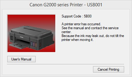 error 5B00 Canon G200