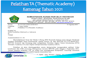 Pelatihan TA (Thematic Academy) Kemenag Tahun 2021