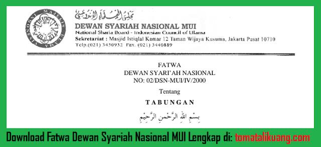 fatwa dewan syariah nasional dsn mui tentang tabungan majelis ulama indonesia tomatalikuang.com