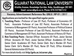 GNLU Recruitment