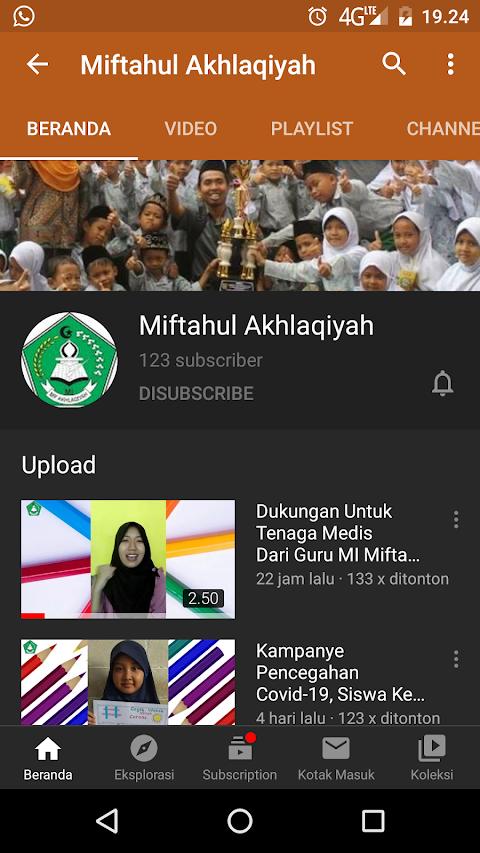 Konten You Tube MI Miftahul Akhlaqiyah Beringin Ngaliyan Semarang