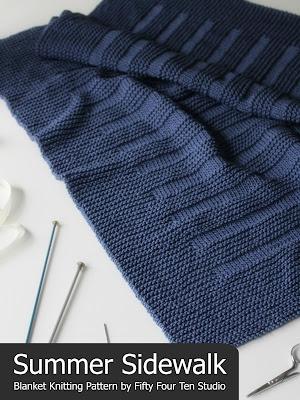 Fifty Four Ten Studio Summer Sidewalk Blanket New Easy Knitting