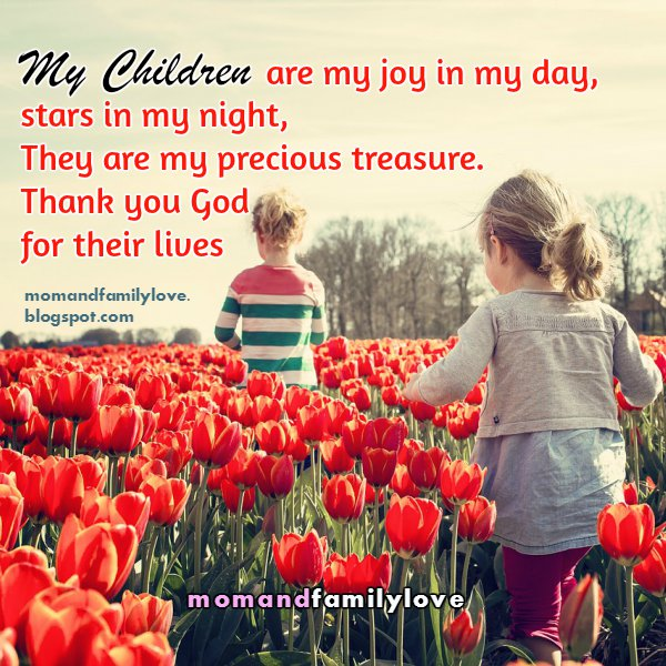 nice quotes for my children, short quotes for family, christian family image,