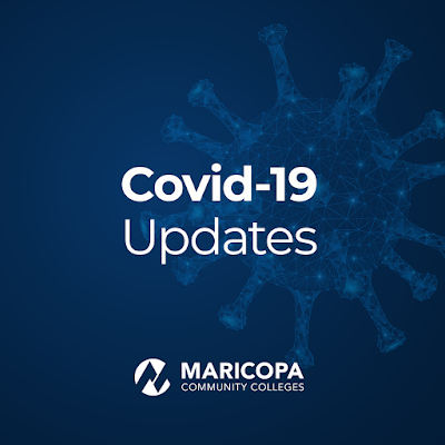 COVid10 Updates poster with Maricopa Community Colleges logo