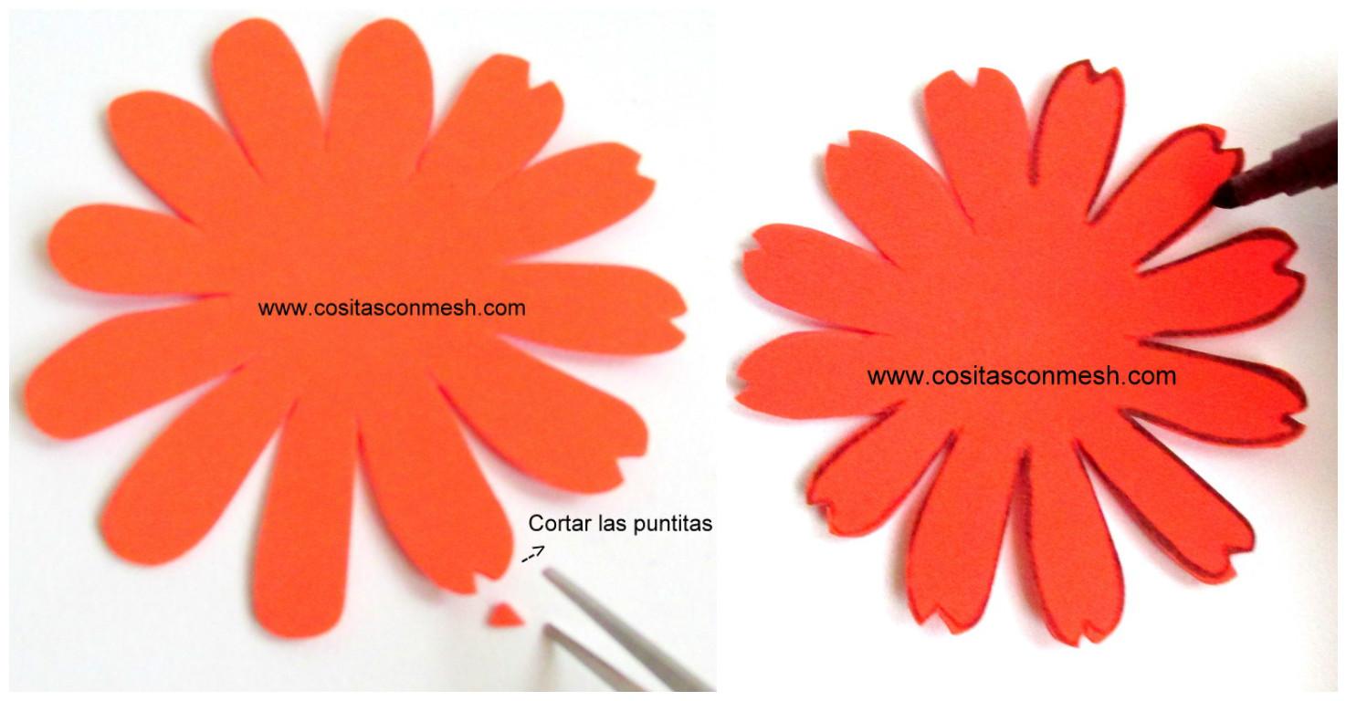 C mo hacer flores en goma eva paso a paso cositasconmesh - Como hacer color naranja ...