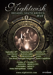 NIGHTWISH Gira DECADES: Sur América
