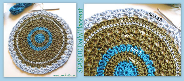 how to crochet, doily, placemats, coasters, free crochet pattern,