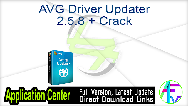 AVG Driver Updater 2.5.8 + Crack
