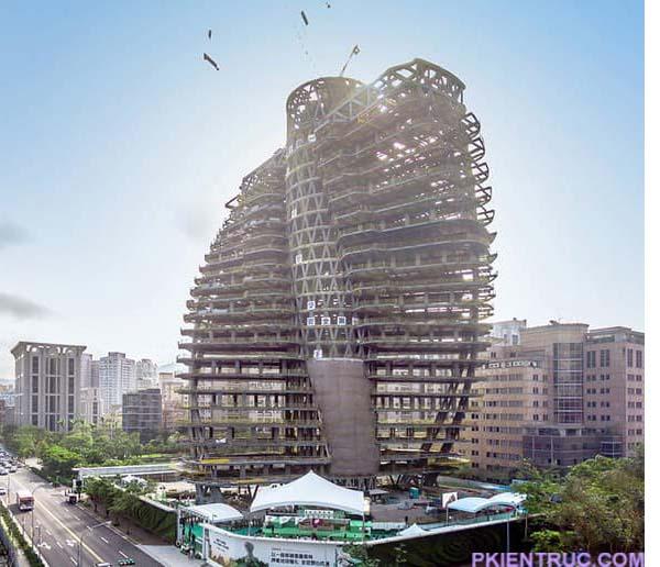 Kết cấu tháp Tao Zhu Yin Yuan- ảnh 2