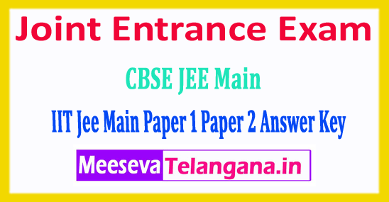 JEE Main Answer Key 2018 Joint Entrance Exam Answer Key 2018 Download