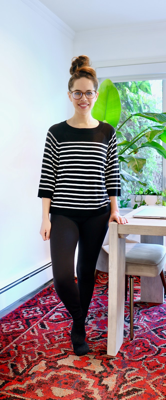 Jules in Flats - Boxy Stripe Sweater (Easy Work from Home Outfit)