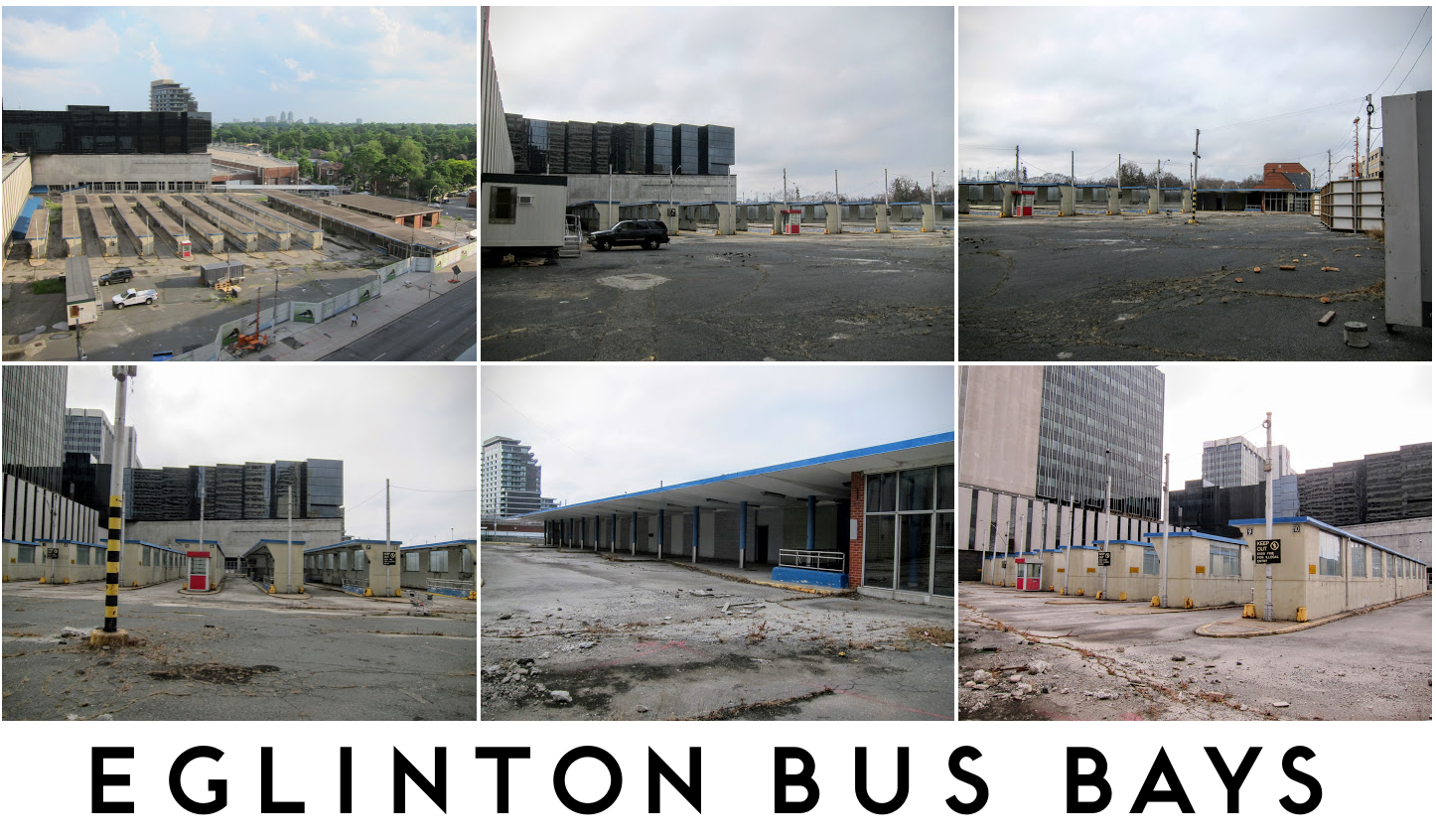 Original Eglinton bus platforms and concourse photo gallery