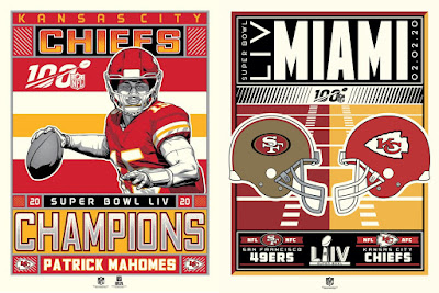 Super Bowl LIV Screen Prints by M. Fitz, Stolitron & Phenom Gallery
