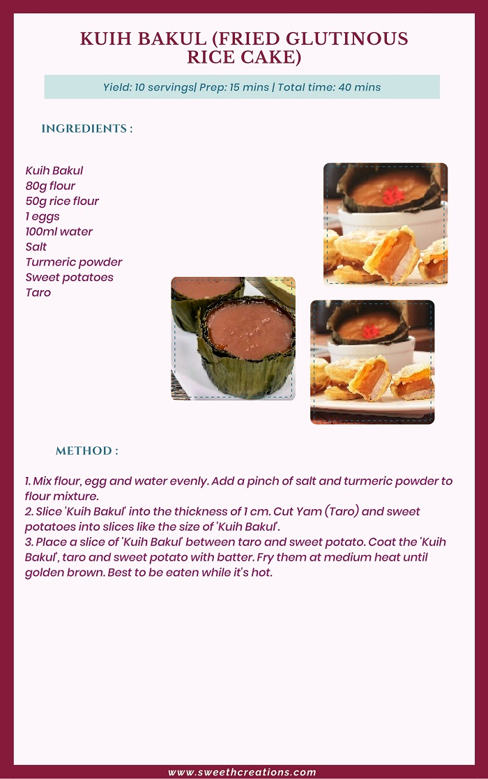 KUIH BAKUL (FRIED GLUTINOUS RICE CAKE) RECIPE