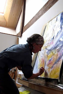 Performance peinture et musique, © Annik Reymond