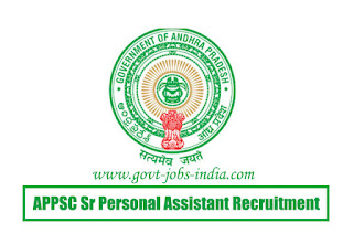 APPSC Sr Personal Assistant Recruitment 2020