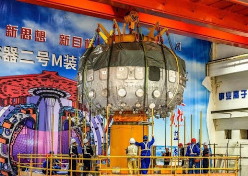 """China has successfully launched """"Artificial Sun"""" nuclear fusion reactor, for the first time. The HL-2M Tokamak in Chengdu, Sichuan Province, new-generation """"artificial sun,"""" went into operation on Friday, achieving its first plasma discharge. According to the China National Nuclear Corporation (CNNC), the HL-2M Tokamak reactor is the most advanced and largest nuclear fusion reactor, and scientists hope to unlock the secrets to the powerful and clean energy of the Sun. Designed to replicate the natural reactions that occur in the sun, using hydrogen and deuterium gases as fuels, will provide clean energy through controlled nuclear fusion. Yang Qingwei, chief engineer of the HL-2M at the Southwestern Institute of Physics under the CNNC, said: """"The energy confinement time of international Tokamak devices is less than one second. The shot discharge duration of the HL-2M is around 10 seconds, with an energy confinement time of a few hundred milliseconds."""""""