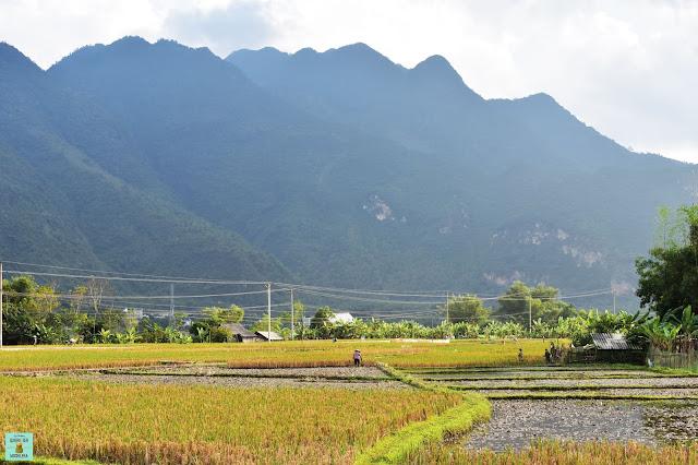 Paisajes de Mai Chau, Vietnam