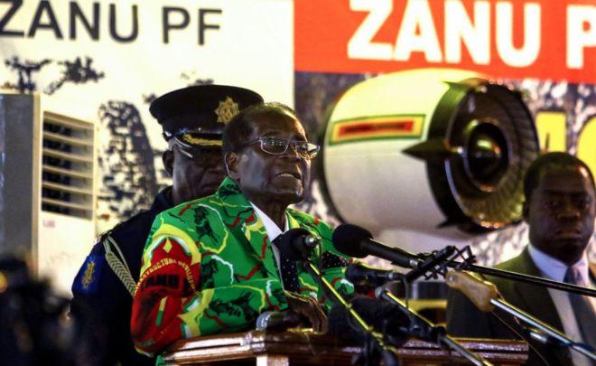 Zimbabwe's Zanu-PF confirms Mugabe as 2018 election candidate