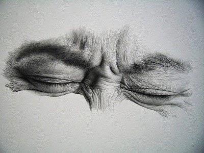 Closed eyes drawing