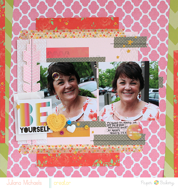 Be Yourself Layout by Juliana Michaels