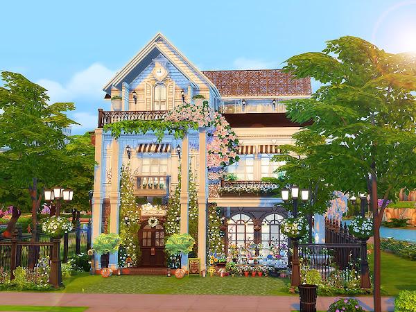 Sims 4 - Parisian Flower Shop 巴黎花坊 (No CC)
