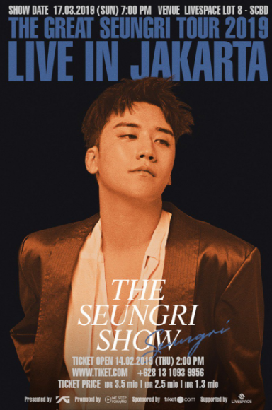 THE SEUNGRI SHOW  is making its final stop in Jakarta!