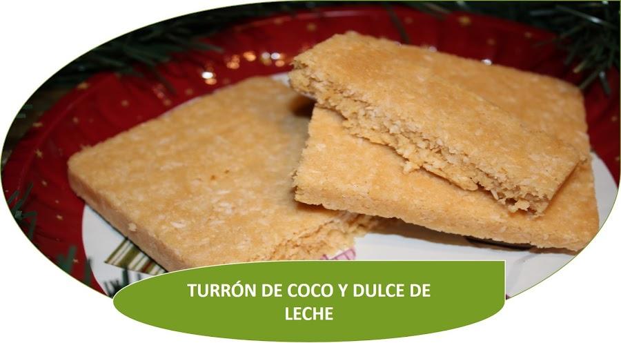TURRÓN DE COCO Y DULCE DE LECHE ¡FÁCIL! {THERMOMIX}