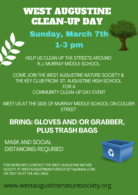 West Augustine Clean-Up Event March 7, 2021
