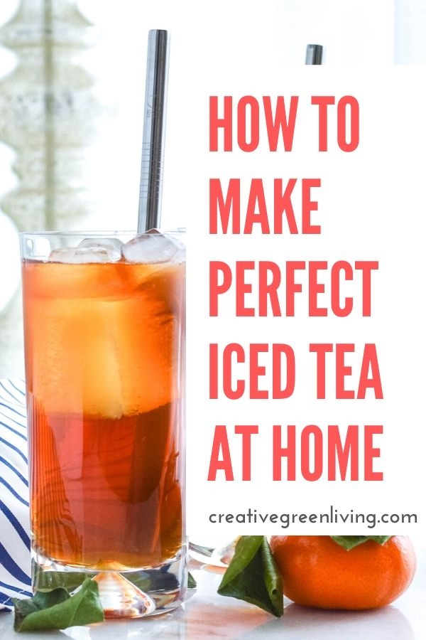 How to make homemade iced tea. DIY your way to easy unsweetened tea at home. The recipe gives you options to make it both sweet or unsweet. This is the healthy way to make black tea, green tea or flavored iced tea. If it comes in a tea bag, you can make it into iced tea using this method!