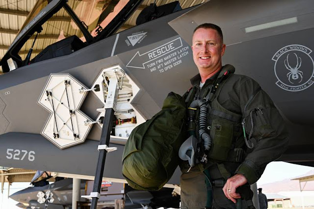 First USAF pilot 1000 hours F35A