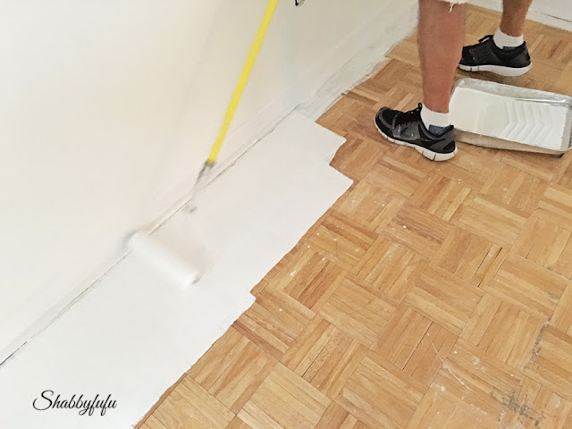 Diy how to paint wood floors like a pro shabbyfufu for Best paint for wooden floors