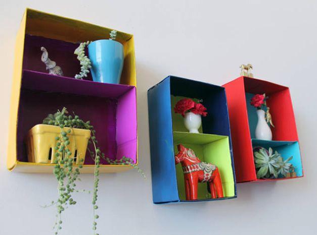Hiasan dinding kreatif dari karton bekas