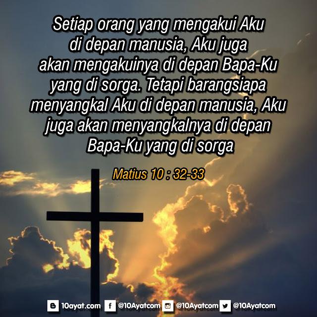 Matius 10 : 32-33
