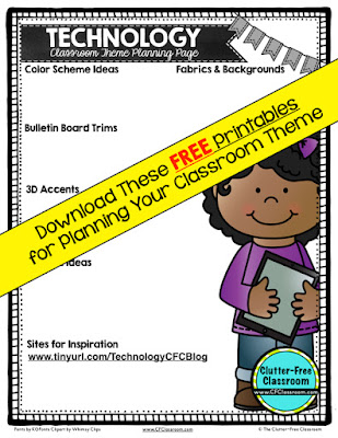 Are you planning a technology themed classroom or thematic unit? This blog post provides great decoration tips and ideas for the best technology theme yet! It has photos, ideas, supplies & printable classroom decor to will make set up easy and affordable. You can create a technology theme on a budget!