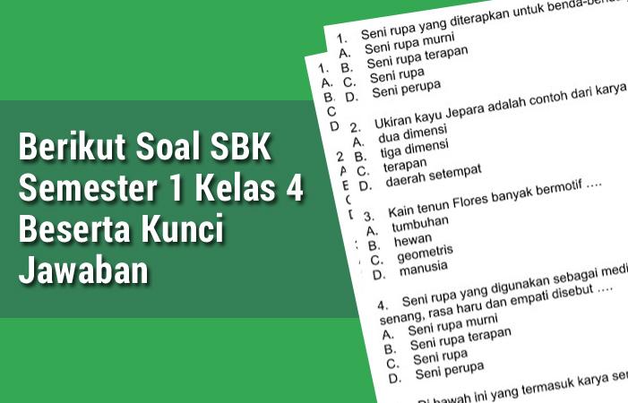 Berikut Soal SBK Semester 1 Kelas 4 Beserta Kunci Jawaban