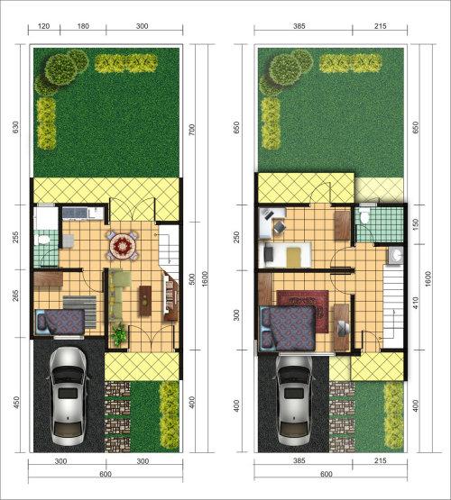 denah casa azalea residence bintaro