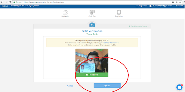 cara melakukan verifikasi selfie+id di App.coins.id
