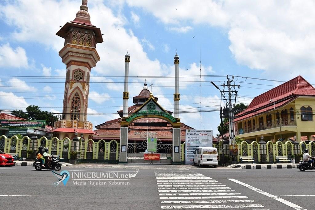 Termasuk Zona Merah, Masjid Agung Kebumen Tiadakan Salat Idul Fitri