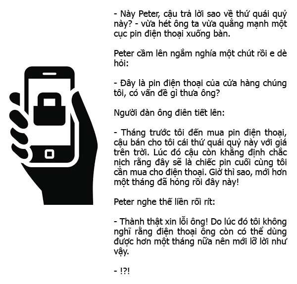 lý do bán pin điện thoại hỏng
