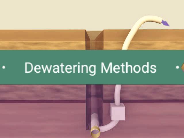 طرق نزح المياه (Dewatering) أثناء الحفر في المناطق المشبعة بالمياه