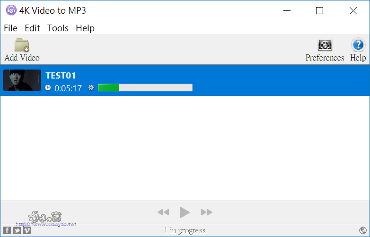 4k Video to MP3 軟體介紹