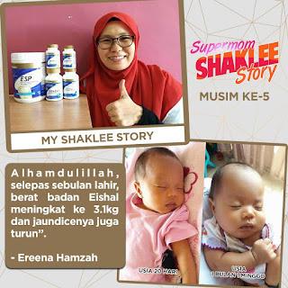 Ibu Anak 5 Tidak Mudah Letih dan Berat Bayi Cepat Naik Dengan Set Berpantang Shaklee