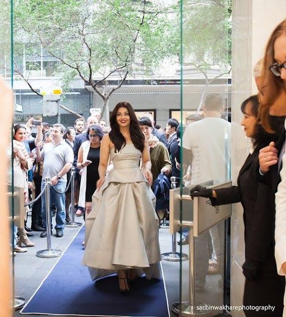 Aishwayra Rai slays Australian deisgner sydney longines watches races fashion Toni Maticevski